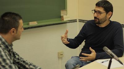 Nacho Calderón y Antonio Márquez charlando