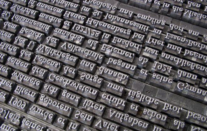 letras de una imprenta