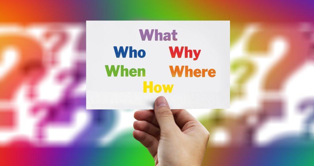 Conjunto de preguntas en inglés: why, where...