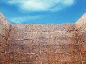 muro muy alto como símil de barrera